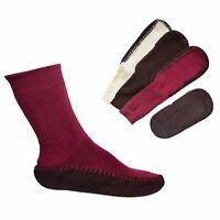 Homeslipper Damen Hausschuhe Socken Antirutschnoppen Stoppersocken Strümpfe