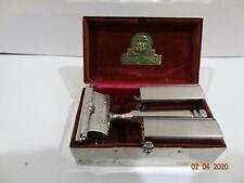 Vintage Ever-Ready Patended 1914 Safety Razor Original Chrome Case w 6 Blades