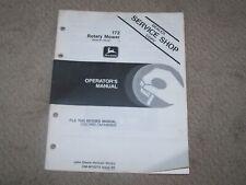 John Deere Used 172 Rotary Mower Ser # 525001 & Up Operators Manual A3