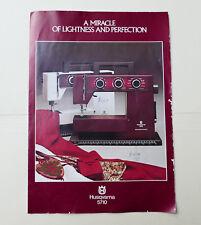 Husqvarna 5710 Sewing Machine Sales Brochure Information Leaflet Guide Vintage