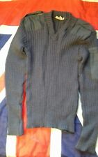 ROYAL AIR FORCE  ISSUE NATO RIBBED WOOLY V-NECK JUMPER