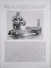 Horizontal Boring And Facing Machine Manchester: 1908 Engineering Magazine Print