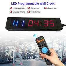 Programmable LED Timer Stopwatch Training Clock For Fitness Tabata Yoga Crossfit