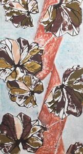Vintage Expressionist floral print