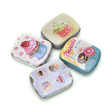 Mini Tin Sealed Jar Packing Boxes Jewelry Candy Box Small Storage Coin Box Nv