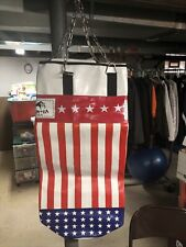 Heavy Duty Leather Punching Bag with Gloves