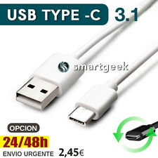 Cable USB Tipo C TIPO-C 3.1 USB-C Type-C Type C REVERSIBLE  1 metro Cargador