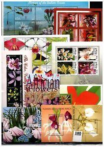 /// 10 S/S - MNH - MIX - FLORA - FLOWERS - PLANTS - WHOLESALE