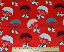 SNOOPY FABRIC! BY THE HALF YARD! PEANUTS! RED BARON! CHARLES SCHULTZ~DOG~BEAGLE