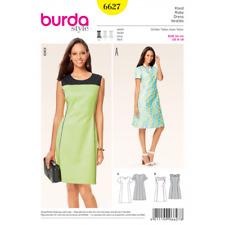 Burda Sewing Pattern 6627 Misses Panel Seam Round Neck Dress