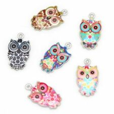 Multi Color Alloy Mini Owl Enamel Charms Pendant For Necklaces Bracelet Earrings