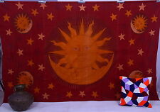 Indian Sun Moon Tapestry Hippie Wall Hanging Bedspread Celestial Bedding Throw