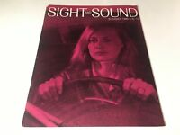 Sight And Sound Vintage Cinema Movie Magazine Summer 1969 Resnais Art Film 60's