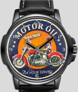 Motor Oil Retro Art Biker Stylish Rare Quality Wrist Watch