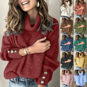 Autumn Womens Basic Pullover Knitted Sequins Loose Jumper Blouse Tee Ladies Tops