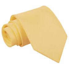 DQT Premium Satin Solid Plain Tie Standard / Slim / Skinny / Clip On / XL / Boys