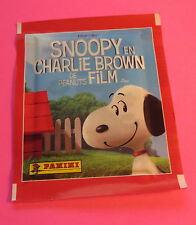 2015 SNOOPY EN CHARLIE BROWN DE PEANUTS FILM PANINI COLLECTOR STICKERS PACK