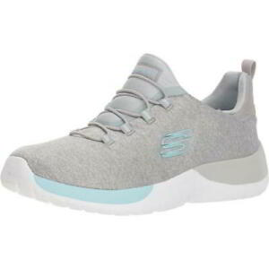 Skechers Dynamite Womens Ladies Grey Slip On Running Trainers Shoes Size UK 4-7