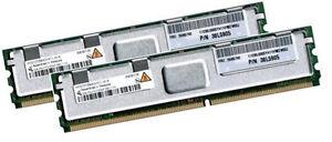 2x 2GB 4GB RAM IBM 38L5905 PC2-5300F 667 Mhz FB DIMM DDR2 Fully Buffered