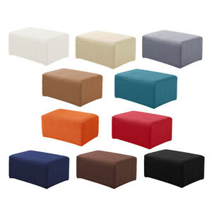 Stretch Jacquard Ottoman Pouf Cover Foot Stool Slipcover Protector
