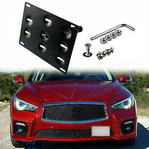 For Infiniti G37 Q50 Q60 Front Bumpe r License Plate Tow Hook Mount Bracket