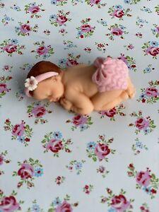 edible,  sleeping baby Girl cake topper