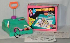 Vintage 1994 Kenner 3D Colorblaster Stencil Designs Artistic Art Design 0619!!!