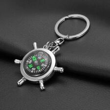 Unisex Kompass Metall Auto Schlüsselanhänger Anhänger Ring Outdoor Camping Neu