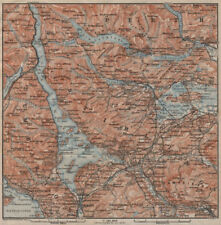 LOCH LOMOND & THE TROSSACHS. Helensburgh Balloch Drymen. Scotland 1906 old map