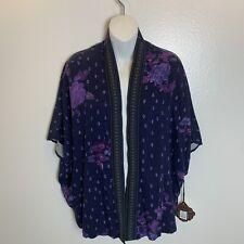 Rose Knot Multicolored Kimono Woman's Size Extra Small NWT