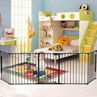Baby Safety Playpen Hearth Gate Metal Fire Gate Pet Dog Cat Fireplace Fence