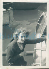 More details for 1951 girl guides photo ts foudroyant  boarding ship instructor 3.5*2.25