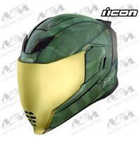 Icon Airflite Battlescar 2 Helmet Street Motorcycle Green 0101-112