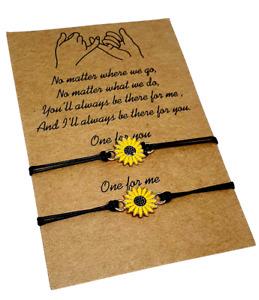 Yellow Railroad Knot Sunflower Bracelet