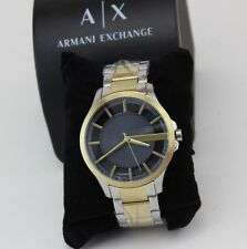 NEW AUTHENTIC ARMANI EXCHANGE SILVER GOLD GREY HAMPTON MEN'S AX2403 WATCH