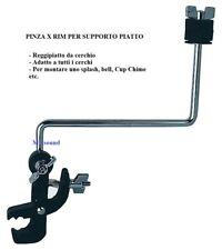 GEWA PINZA PER RIM PER SUPPORTO PIATTO BSX Reggipiatto da cerchio per batteria
