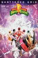 MIGHTY MORPHIN POWER RANGERS SHATTERED GRID #1 A COVER BOOM! 2018 STOCK IMAGE