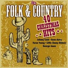 Folk & And Country - 40 Christmas Hits - Various (NEW 2 x CD)