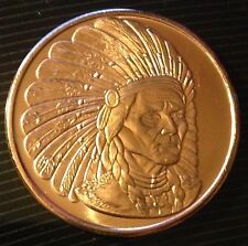 1 OZ COPPER ROUND AMERICAN INDIAN SERIES - GERONIMO