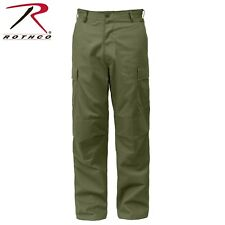 Rothco Relaxed Fit Zipper Fly BDU Cargo Pants - Olive Drab or Khaki or Navy Blue
