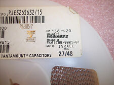 QTY (2000) 15uf 6.3V 20% A CASE SMD TANTALUM CAPACITORS 595D156X06R3A2T SPRAGUE