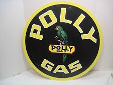OLD METAL POLY GAS SERVICE STATION MOTOR OIL MAN CAVE TIN SIGN