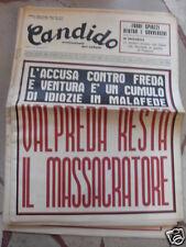 CANDIDO VALPREDA RESTA IL MASSACRATORE 21 FEBBRAIO 1974