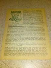 RARE VINTAGE LOCUS (SCI-FI) NEWSLETTER - June 1972 #115