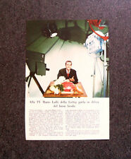 M338 - Advertising Pubblicità - 1960 - LIEBIG , MARIO LULLI ALLA TV