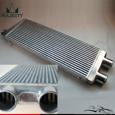 "TWin Turbo Intercooler Front Mount For Ford Audi BMW VW 3"" Inlet & Outlet Alloy"