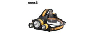 BORUIT: Sea Saltwater Night Fishing Head Light Torch Headlamp 4 X AA Powered