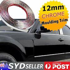 20M Roll x 12mm Chrome Plated Moulding Strip Silver Adhesive Auto Bumper Trim OZ