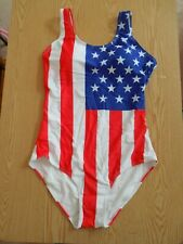 New Womens Sexy Patriotic American Flag 1Pc Swimsuit Stretchy Large 4Th Of July