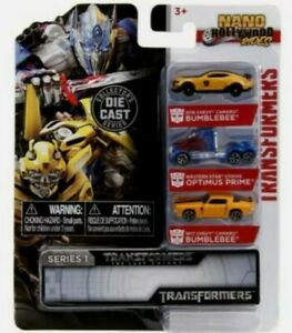 Transformers Nano Hollywood Rides 3-Pack 1:65 scale Diecast Set with free post